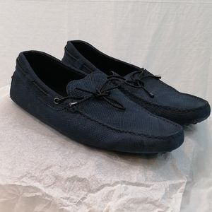 Tods Navy Leather Men Driving Shoes Loafers 9.5
